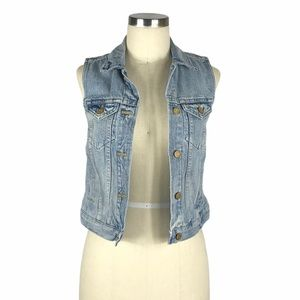 MADEWELL The Jean Vest Clear Blue XS